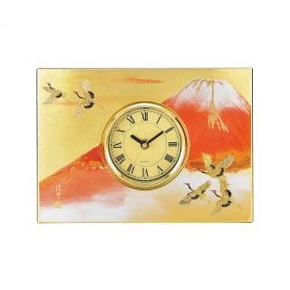山中漆器 パネル時計 紅富士(G)