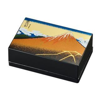 山中漆器 小箱名刺入れ 黒富士