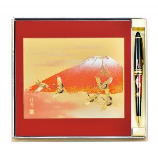 山中漆器 ステーショナリー2点セット紅富士(R)