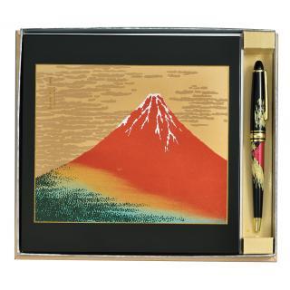 山中漆器 ステーショナリー2点セット赤富士(B)