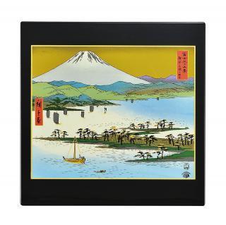 山中漆器 マウスパッド 三保の松原と富士山