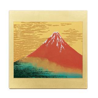 山中漆器 マウスパッド 赤富士(G)