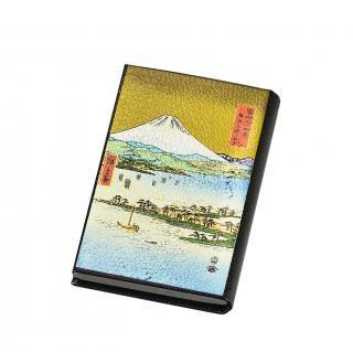 漆芸名刺入れ 三保の松原と富士山(B)