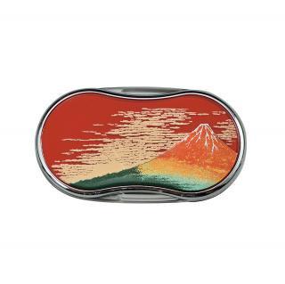 山中漆芸 ルーペLEDライト付き 赤富士(R)