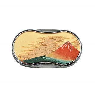 山中漆芸 ルーペLEDライト付き 赤富士(G)