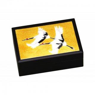 七宝焼き 卓上小物 小箱(小)双鶴