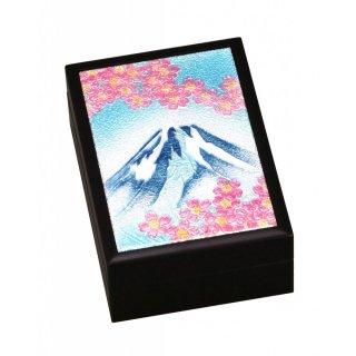 七宝焼き 卓上小物 小箱(小)富士桜