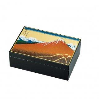 山中漆器 アクセサリーBOX 黒富士