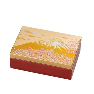 山中漆器 アクセサリーBOX 白富士(G)
