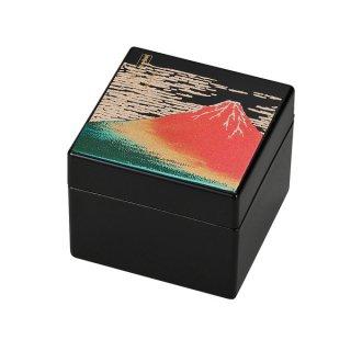 山中漆器 姫小箱(鏡付)赤富士