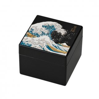 山中漆器 姫小箱(鏡付)波