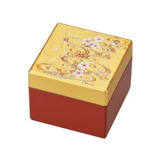 山中漆器 姫小箱(鏡付)桜川