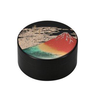 山中漆器 3.0アクセサリーケース 赤富士