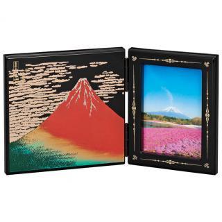 山中漆器 写真立て パネルピクチャー 赤富士
