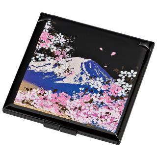 山中漆器 富士桜 ミニコンパクトミラー