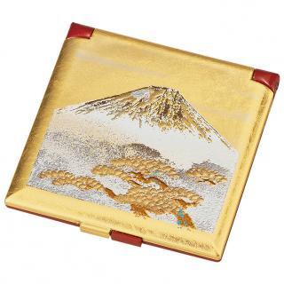 山中漆器 白富士 ミニコンパクトミラー
