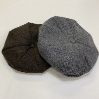 1940's Style Newsboy Cap Gray & Brown