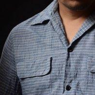 1950's style Cotton shirt Stripe A