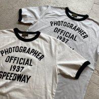 Vintage Style Ringer Cotton T-Shirt Photographer