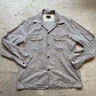 1950's style Cotton shirt Stripe - B