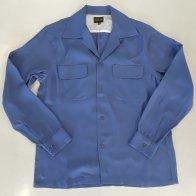 Vintage Box Rayon Long Sleeves Shirt Gray