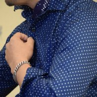 1930's Style Cotton Vintage Style Shirt Dot