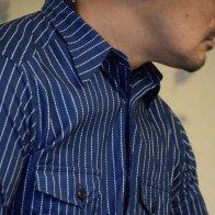 1930's Style Cotton Vintage Style Shirt Stripe