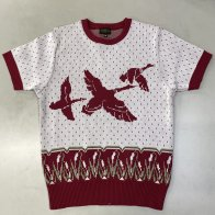 Vintage 1950's Duck style Summer Knit Red Brown