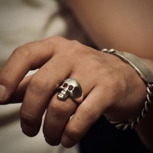 Vintage style Skull Ring 【納品時期:6月】