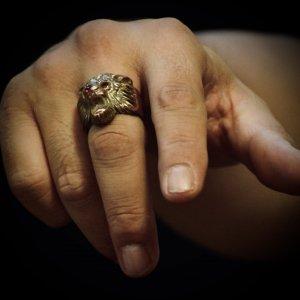 Vintage style Lion Ring 【納品時期:6月】