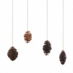 Set of 4 Nordic Pinecones