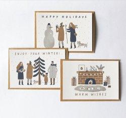 冬のポストカード