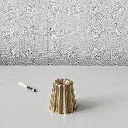 カヌレ型のキャンドルホルダー / 真鍮