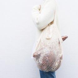 オーガニックコットンのネットバッグ