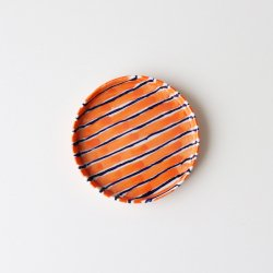 Folkdräkter Side Plate / orange&blue