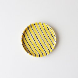 Folkdräkter Side Plate / yellow&blue