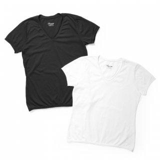 VネックTシャツ(レディース)