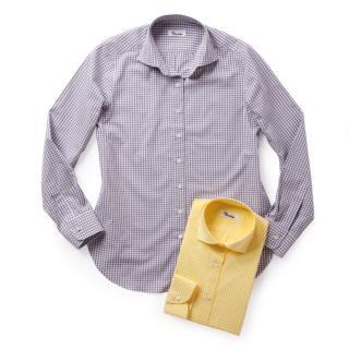 カシュクールシャツ(ギンガムチェック)「MIMOSA(ミモザ)」