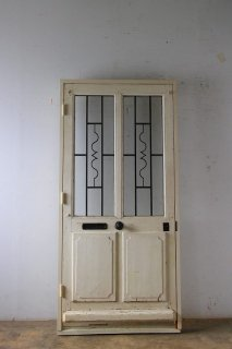 シンプルなアイアン飾り 玄関ドア 木枠完成品付き