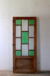 無塗装アンティークガラスドア