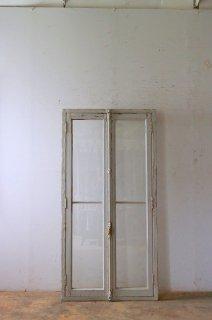アンティーク木枠付きガラス窓