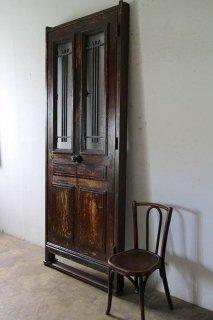 シンプルなアイアン飾り 玄関ドア 木枠完成品付 外開き