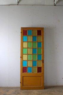 アンティークガラスドア