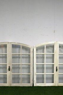 アンティークアーチガラス窓 2ペアあり