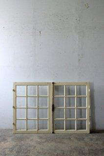 アンティークガラス窓 グレモン錠付