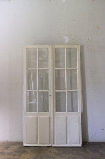 アンティーク観音開きガラスドア