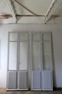 アンティークバルコニーガラス戸 2ペアあり