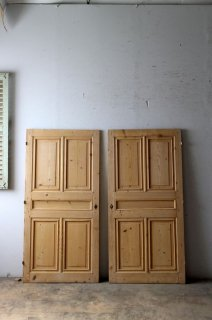 プチ アンティークパネルドア 無塗装 2枚セット