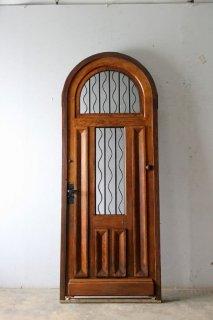 アンティーク アーチ玄関ドア オリジナル木枠付