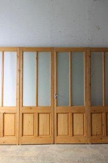 無塗装 アンティークガラスドア 4枚組